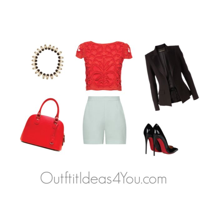 Have fun and wear what you love!  Jen Thoden            Shop This Look      Alice Olivia red top aliceandolivia.com    Alexandre Vauthier blazer…