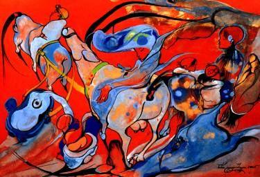 """Saatchi Art Artist Nini gigilashvili; Painting, """" TIme"""" #art"""