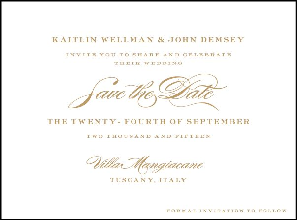 These are charming and sophisticated letterpress invitations perfect for a formal wedding with pretty floral accents.