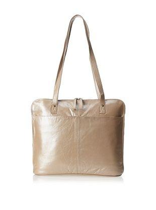 70% OFF Latico Women's Roslyn Slim Porter Bag (Metallic Taupe)