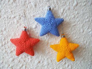 Вязание крючком Crochet : Новогодняя звезда Christmas starlet Croche