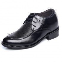 Height Increasing Calfskin Dress Shoes Grow taller 10cm / 4inches Elevator Wedding shoes