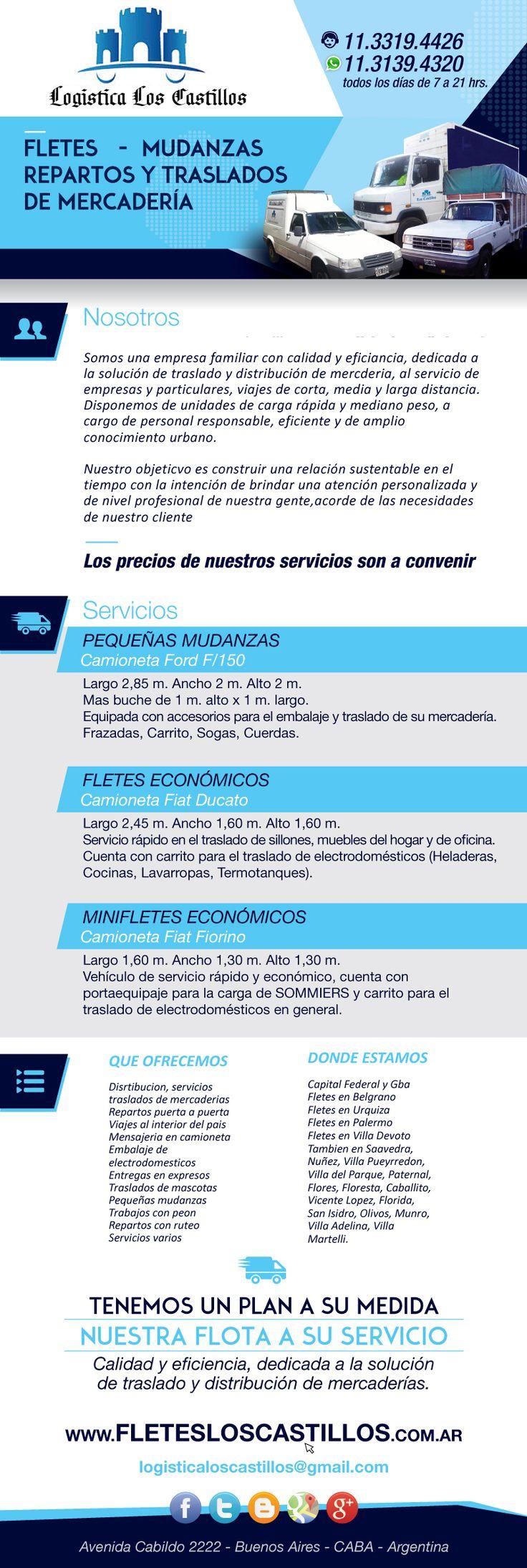 Fletes Palermo Urquiza Belgrano Nuñez Olivos Martinez Munro - Capital Federal - $ 99,00 en MercadoLibre