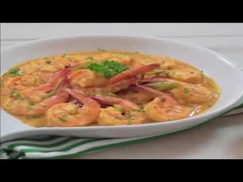 Hipon Sa Aligue Prawns in Crab Fat Sauce