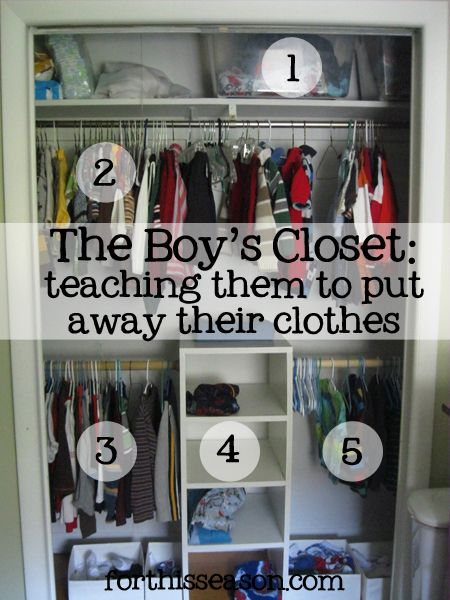 How We Organize The Kid S Clothes Closet Organization