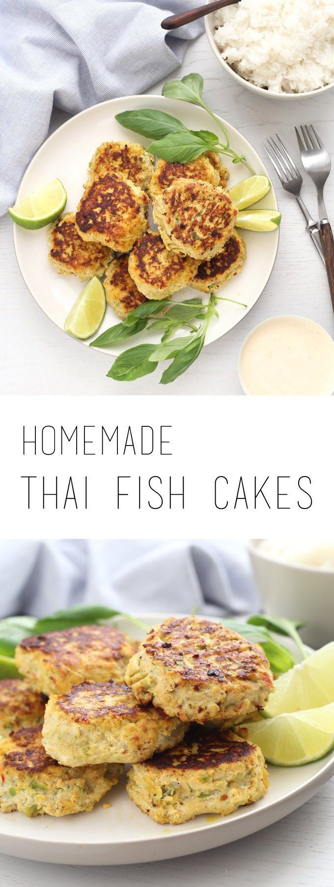 Easy Thai fish cakes are a family pleasing healthy dish (gluten free and dairy free)