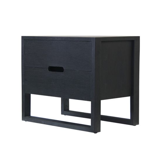 GBT365 Ch Solaris Bedside Table Charcoal
