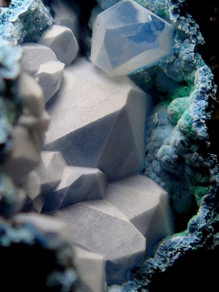 Cool/beautiful as all get out. This is listed as a mix of chalcedony, quartz and shattuckite .