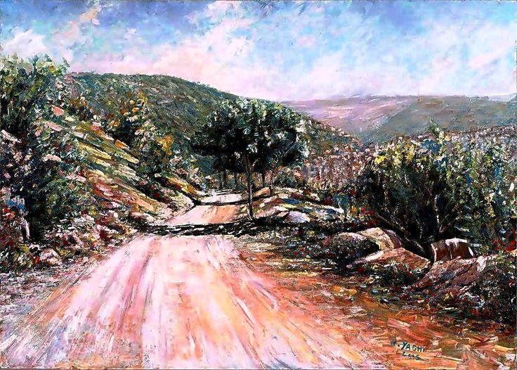 By Doctor Rida Yaghi -Oil--بريشة الطبيب رضا منذر ياغي – itt: Ed Douâr, Mont-Liban, Lebanon – – Ed Douâr, Mont-Liban, Lebanon
