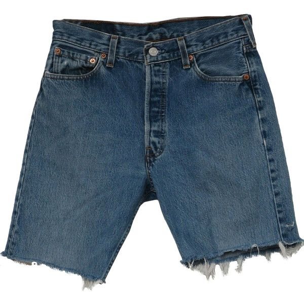 Levis 501 Nineties Vintage Shorts: 90s -Levis 501- Mens well worn... ($26) ❤ liked on Polyvore featuring men's fashion, men's clothing, men's shorts, shorts, bottoms, pants, mens button fly shorts, mens clothing, mens gold shorts and levi mens shorts