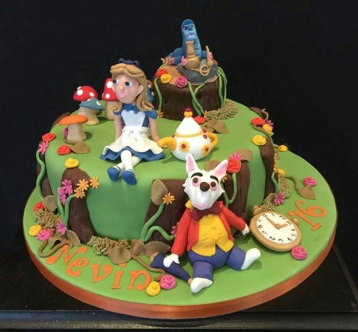 Alice in wonderland  cake was fun to make.