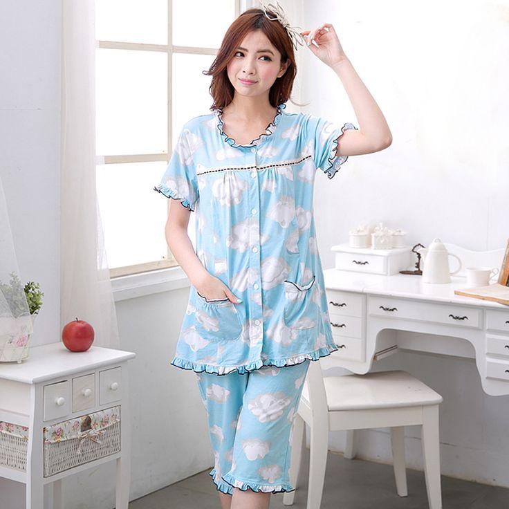 MamaLove летний Материнства одежда для беременных пижамы ночной рубашке кормящих одежда для беременных женщин кормящих ночная рубашка