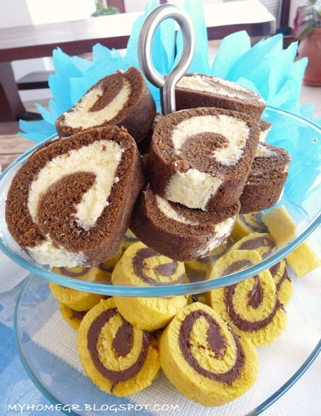 My home ...: Κορμός βανίλιας με μερέντα : Το καλύτερο γλυκό για πάρτυ και κεράσματα !!