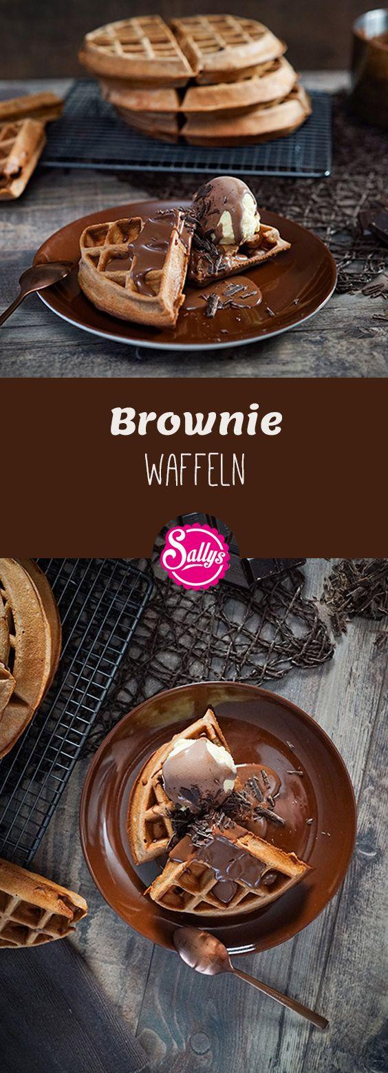 Leckere schokoladige Brownie Waffeln!