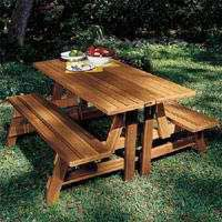 Benches that convert to picnic table