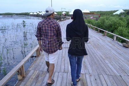 couple walk together