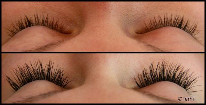 Long eyelash extensions by Terhi