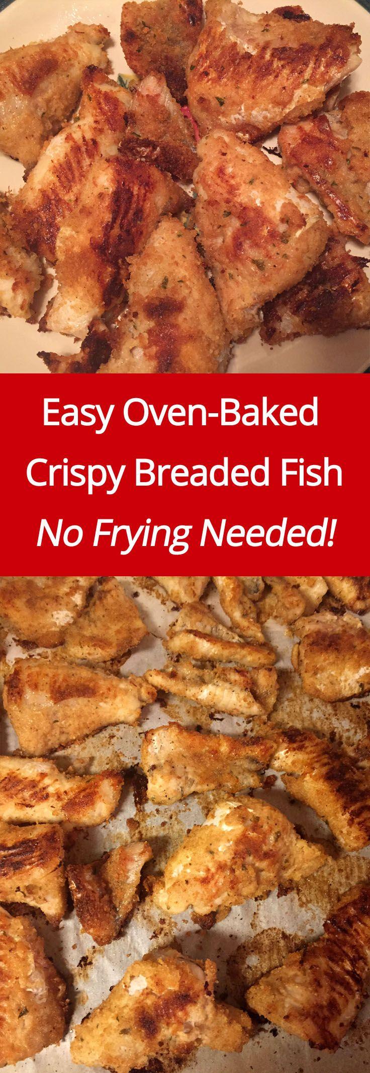 Easy Oven Baked Crispy Breaded Fish Recipe | MelanieCooks.com
