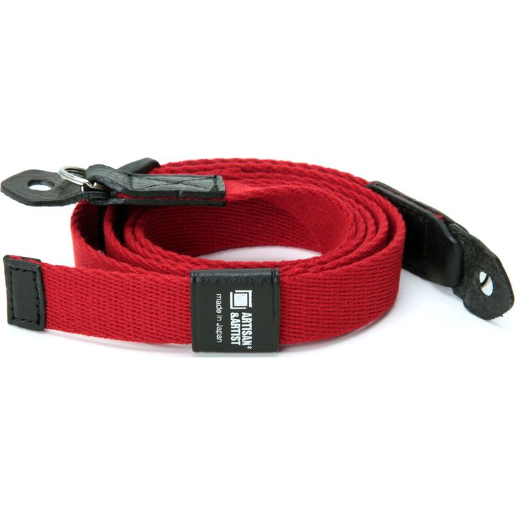 Artisan&Artist Acrylic Camera Strap | Red/Black