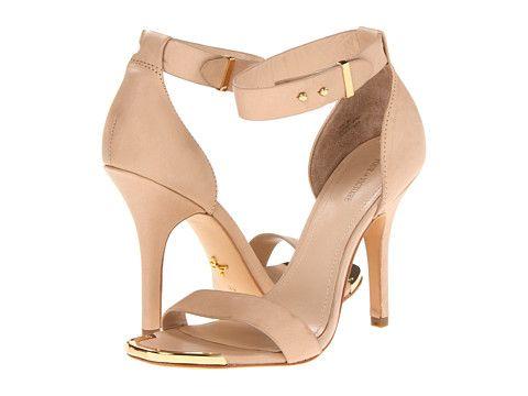 Pour La Victoire Yaya Dress Sand open toe pump with ankle strap