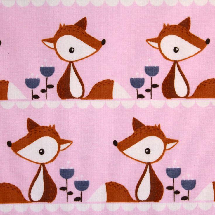 Biojersey - 'Little Fox rosa' - 0.5m