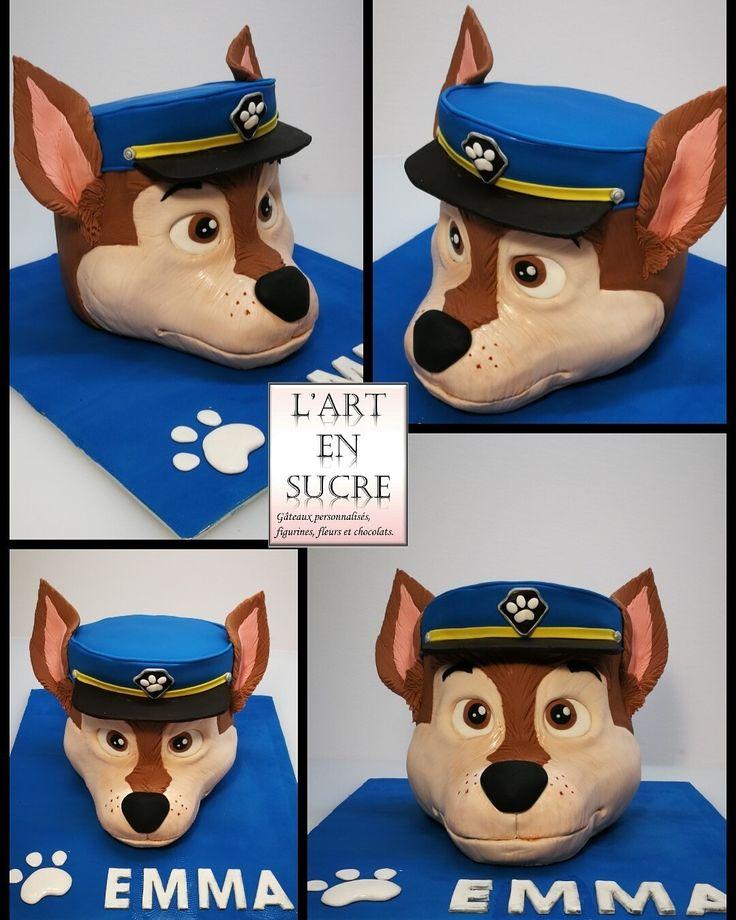 Chase de pat patrouille en gâteau 3D Chase of Paw patrol 3D cake