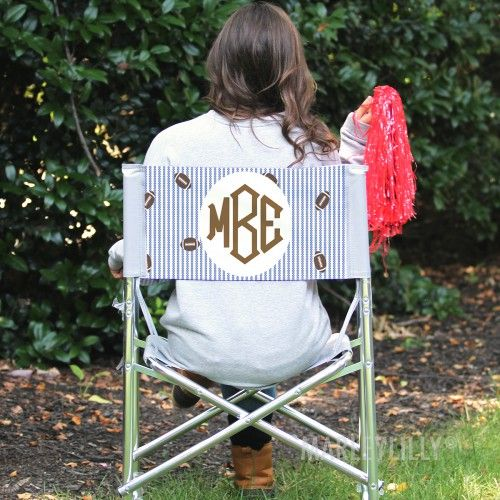 Football season is the best time to show off your monogram! Do it with The Monogrammed Tailgate Chair | Marleylilly