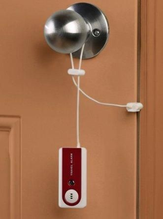 For anyone who can never quite get a good nights sleep in a hotel room due to security worries, this gadget can help allay those fears a little. Its high-pitched 91-decibel alarm will alert you if your hotel room door is opened.
