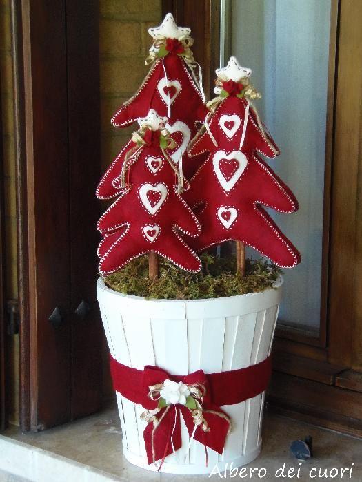 Alberi di Natale in Pannolenci - Hobbydonna