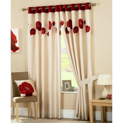 Danielle Ready Made Curtains Red