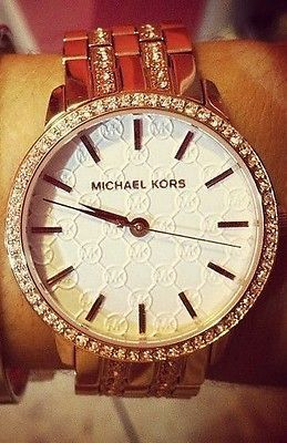 Michael-Kors-Womens-Lady-Nini-Rose-Gold-Tone-Stainless-Steel-Watch