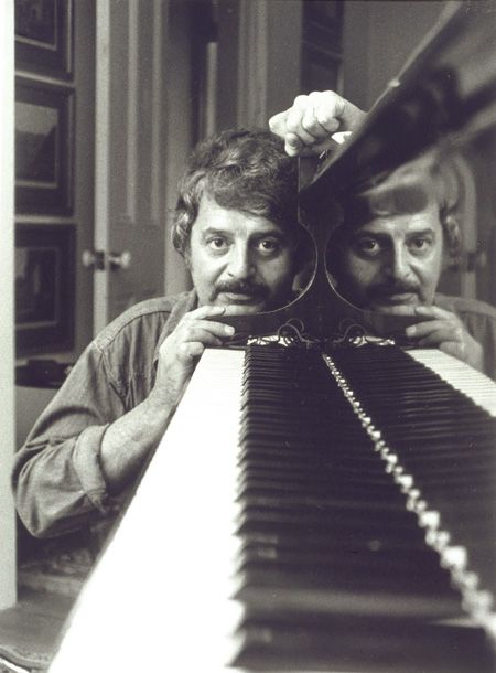 Peter Sculthorpe in 1977. Photo by Lewis Morley