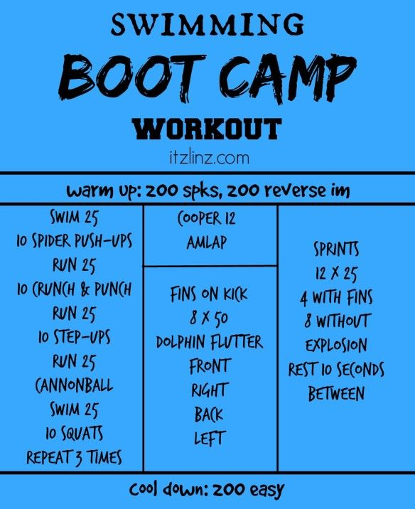 swimming boot camp workout