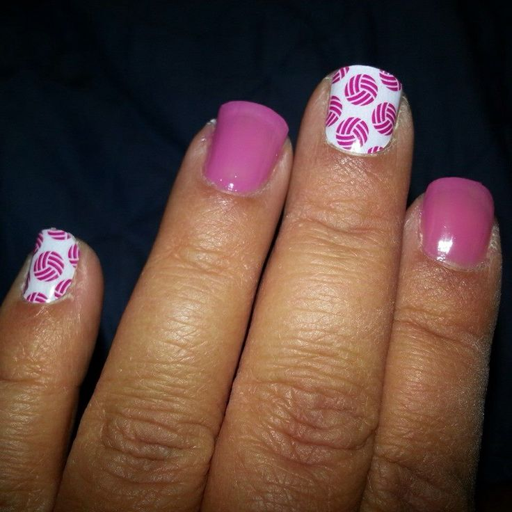 jamberry volleyball nails