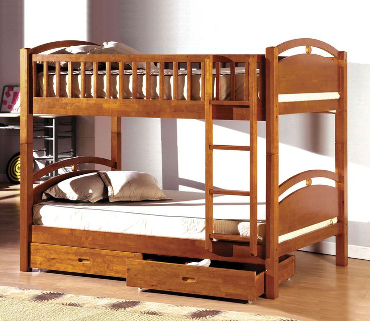 Twin Bunk Bed With Two Drawers California I Collection Cm