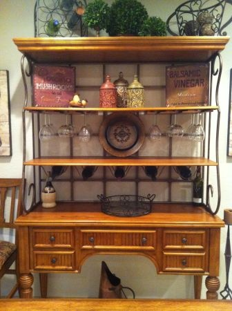 in racks wine full kitch the furniture wire size for of rack kitchen bakers hutch