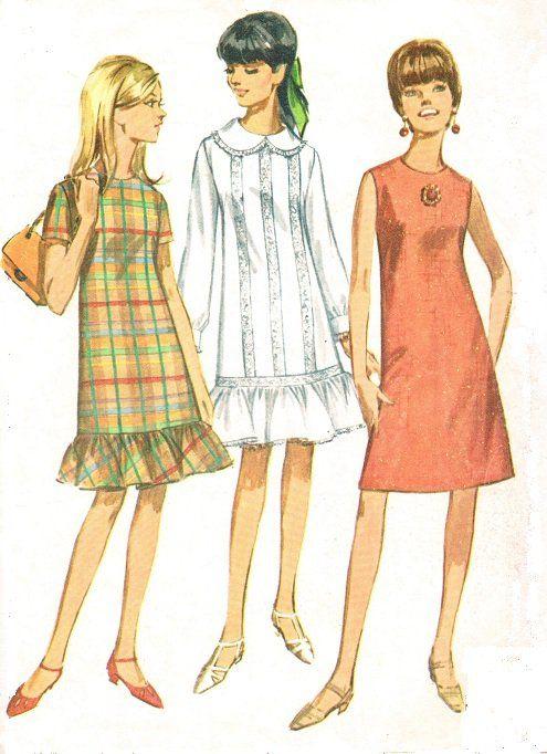 Figurines años 60.   Moda de los 60   Pinterest