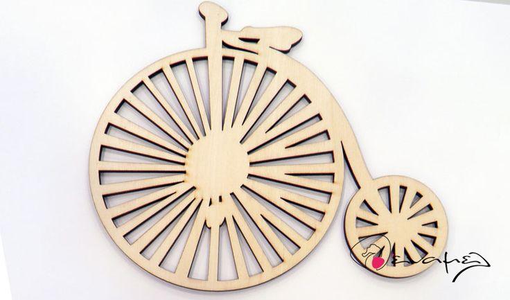 Ξύλινο ρετρό ποδήλατο μεγάλο  Διαστάσεις 20x17cm . Η τιμή αφορά τεμάχιο.