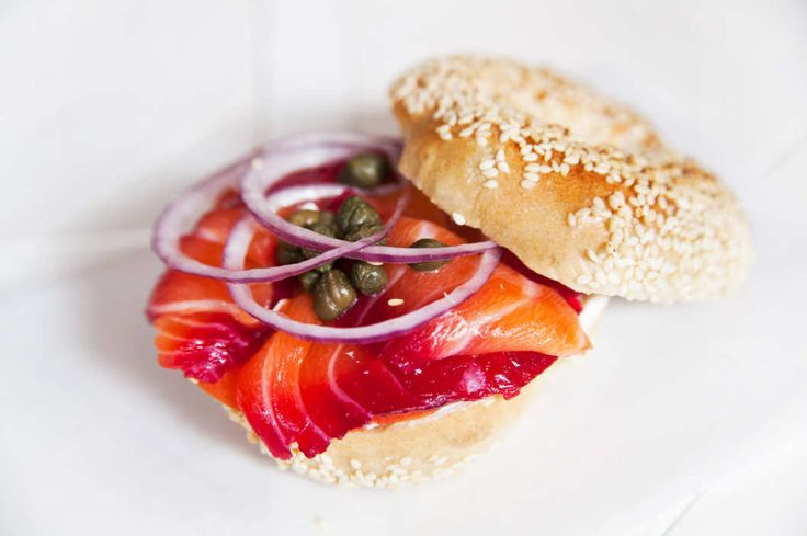 Beet cured lox bagel at Black Seed, NYC's Most Ambitious New Bagel Shop -- Grub Street