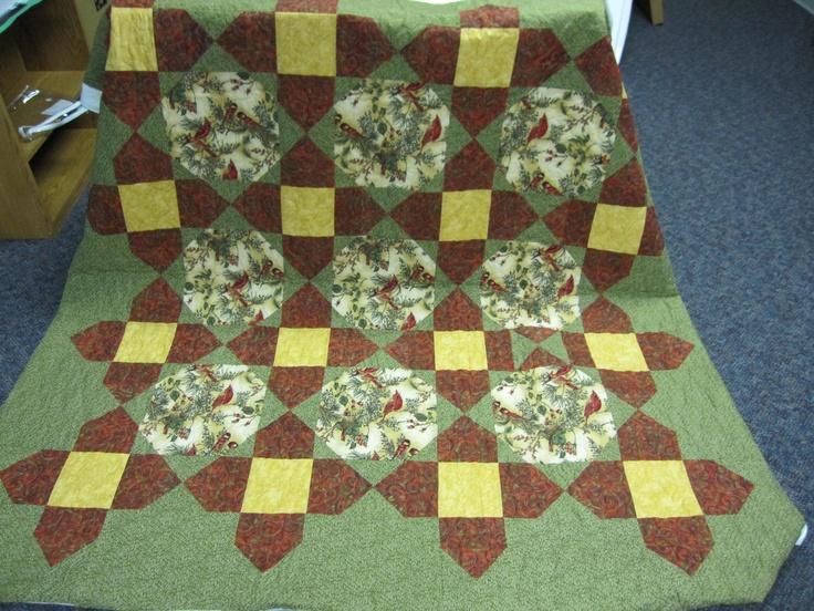 bird fabric - mystery quilt