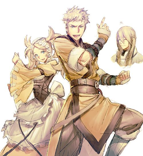 Fire Emblem Awakening - Lissa and Owain (With Libra as his father)