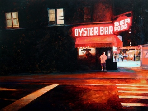 Oyster Bar - NYC, painting by artist Susan Cox