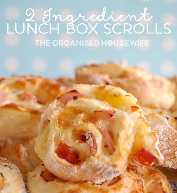 Only 2 ingredients needed to make these super easy scrolls. Quickly make the kids some scrolls for thier school lunchbox flavoured in so many different ways