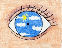 An Eye for Magritte--Maybe for the first day of school? Or hand out as an assignment at home visits?