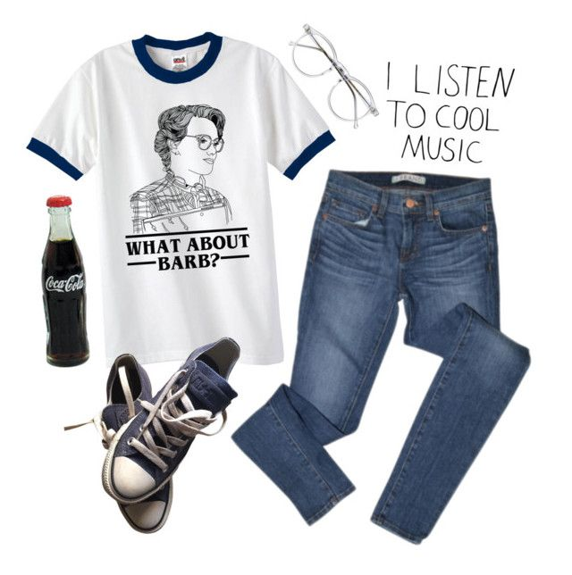 """What Do I Say?"" by alienmaven ❤ liked on Polyvore featuring J Brand, Wildfox and Converse"
