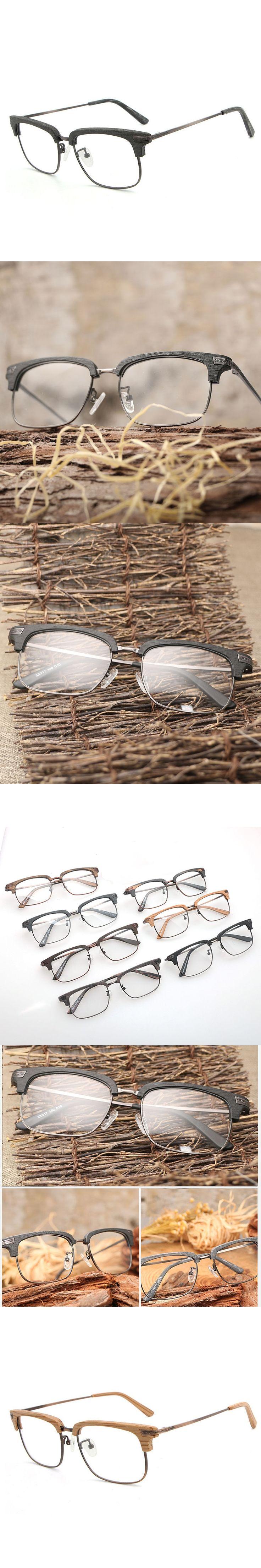 Retro Wood Optical Glasses Frames Clear Lens Wooden Eyeglasses Frame for Women Men prescription Glasses Computer Reading Glasses