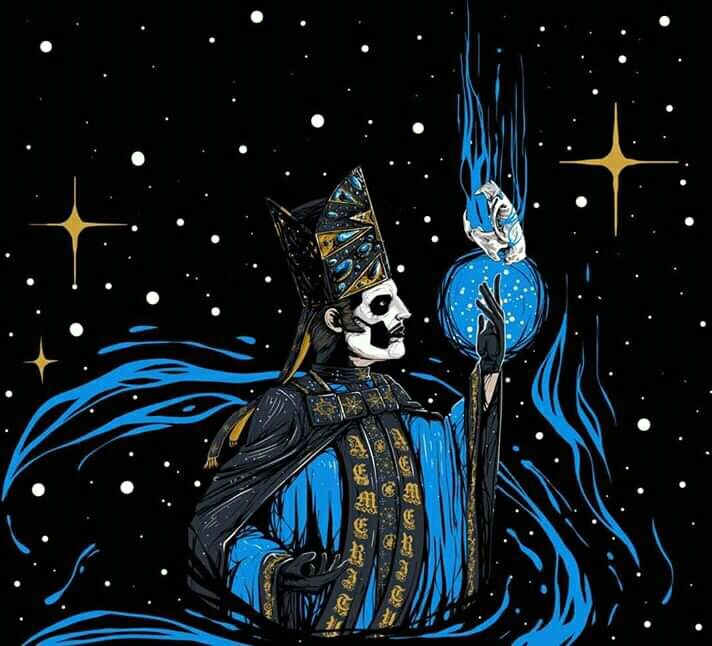 Papa Emeritus Iv By Welyn Koutarou Ghost Papa Ghost And Ghouls Ghost Papa Emeritus