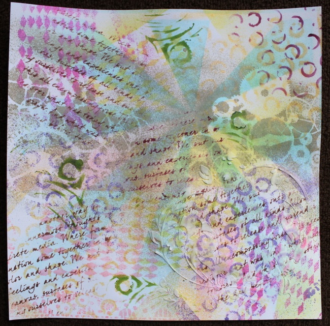 OK is this the beginning of my Art Journalling journey? LOL, check out Christy's class at SNR  http://theartstudio.scrapbooknewsandreview.com/component/guru/guruPrograms/5-mixed-media/118-creating-an-art-journal-page-leave-your-mark/view/306?task=view