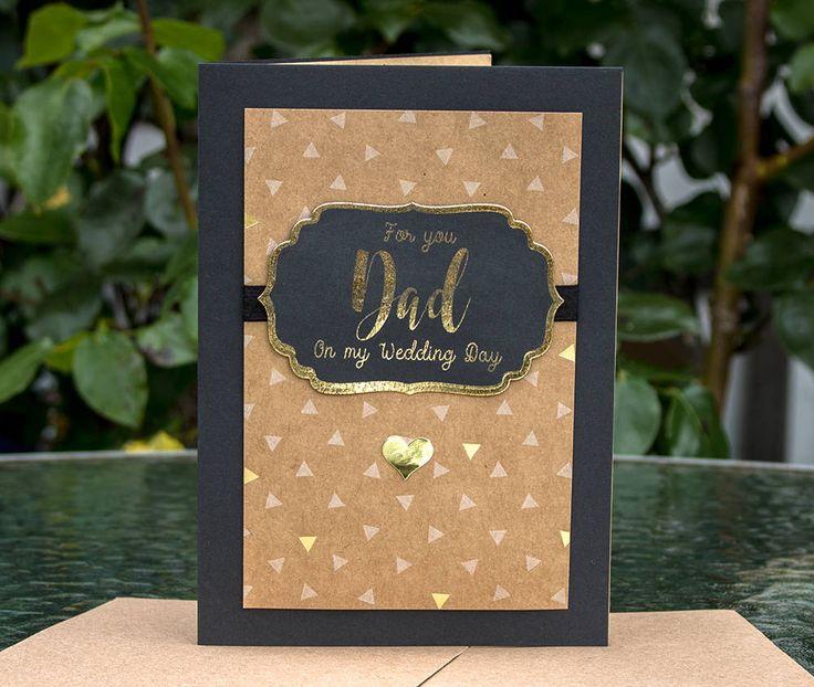 Real Foil Wedding Card, Wedding Card for My Dad, To my Dad on My Wedding Day, To my Father, Wedding Day Card, Wedding Day Gift, Gift for Dad by SBsPrintables on Etsy