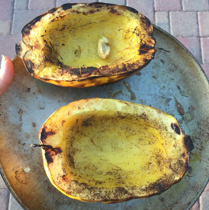 How to Grill Spaghetti Squash | WholeLifestyleNutrition.com